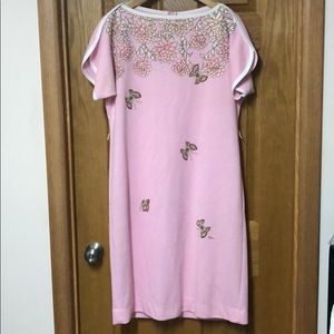VINTAGE SHIFT DRESS BUTTERFLY DRESS